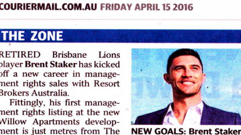 NEW GOALS: Brent Staker