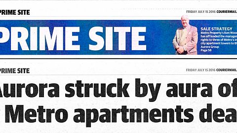 Aurora struck by arua of a Metro apartments deal
