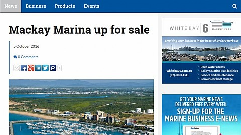 Mackay Marina up for sale