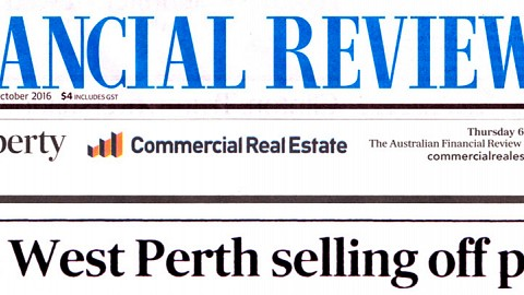 Aire West Perth selling off plan
