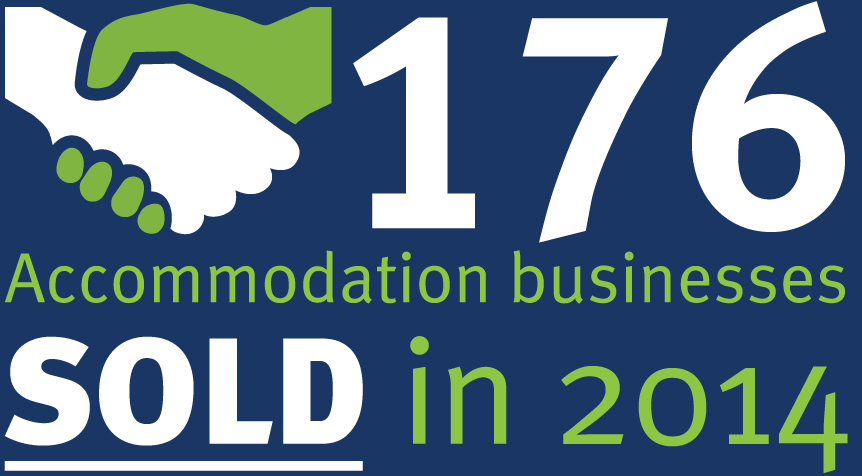 176 Accommodation businesses sold in 2014