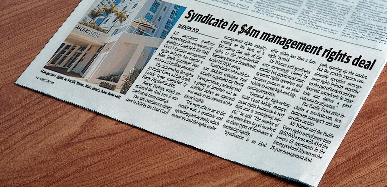 Syndicate in $4m Management Rights Deal