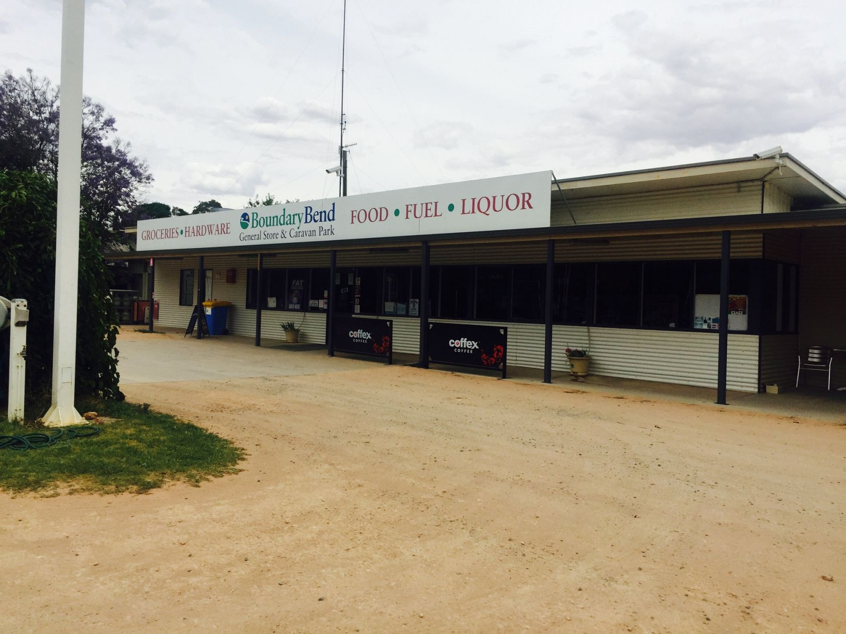 Freehold and Business Caravan Park and General Store close to Murray River